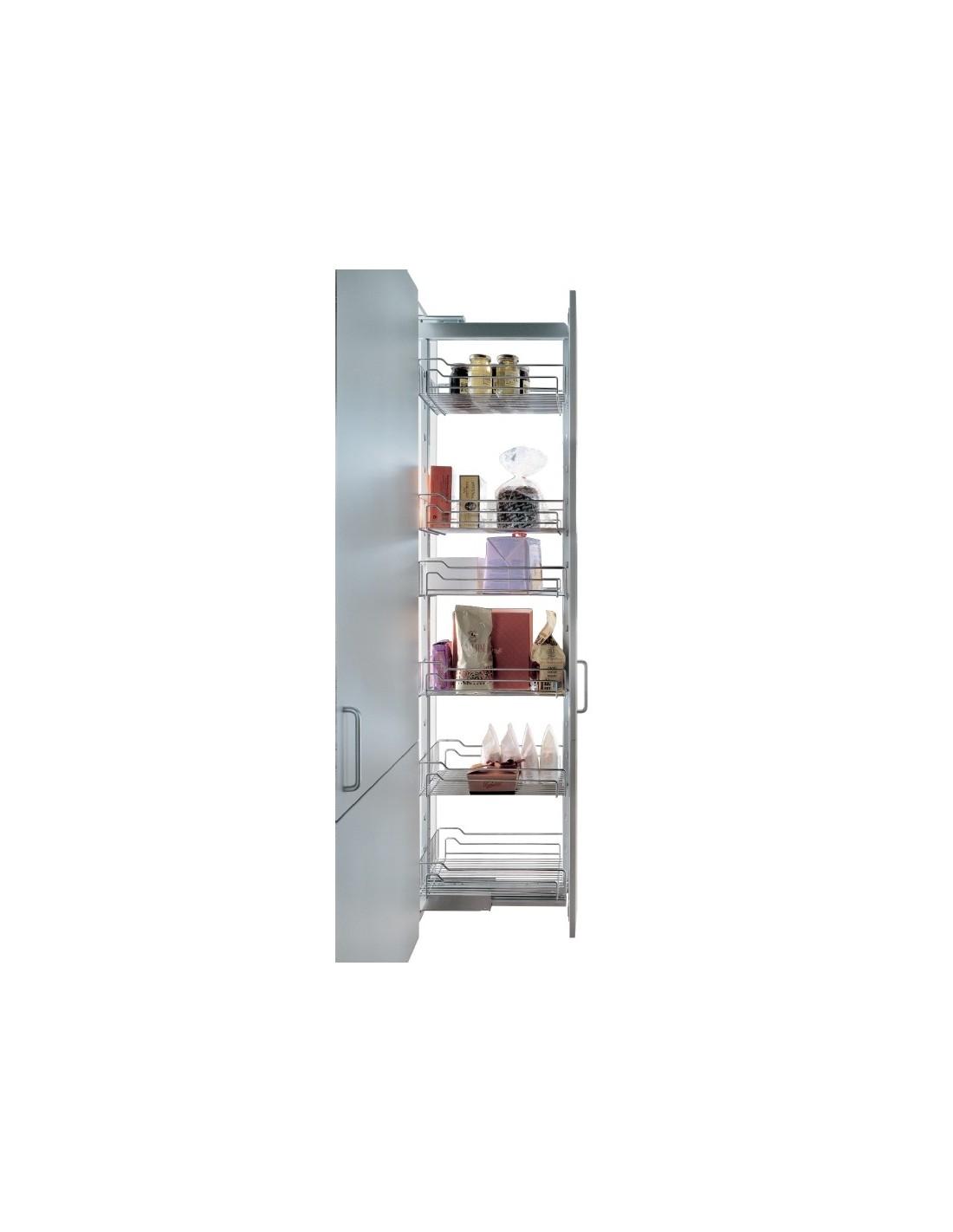 Rangement Pour Garde Manger unité de 5 paniers clipsables pour garde-manger - rangement de cuisine  dimension meuble de 300mm
